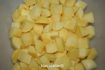 doğranmış patates 1 köfteli patates yemeği