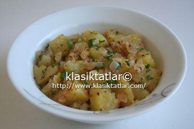 tereyağlı patates salatası patates salatası