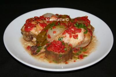 patlıcanlı tavuk incik patlıcanlı tavuk incik