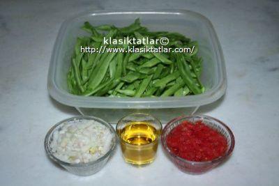 çalı fasulye malzemesi zeytinyağlı çalı fasulye
