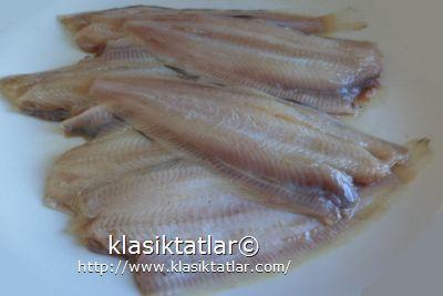 dil balığı temizlenmiş 1 dil balığı tava