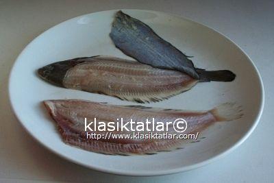 dil balığı temizlenmiş dil balığı tava