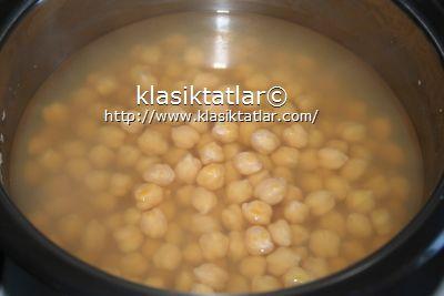 gazı alınmış nohut ıslanmış nohut düdüklüde nasıl pişirilir