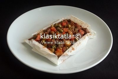 fırında kağıt kebabı 1 dana etli kağıt kebabı