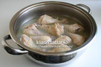 baget haşlama fırında pilavlı tavuk baget