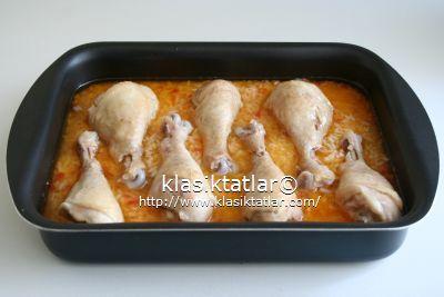 fırında baget fırında pilavlı tavuk baget