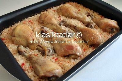 fırında pilavlı tavuk incik fırında pilavlı tavuk baget
