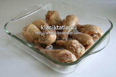 haşlanmış baget fırında pilavlı tavuk baget