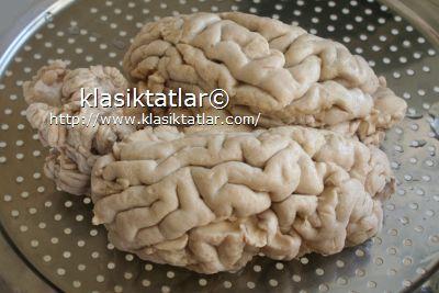 süzülmüş dana beyni beyin haşlama
