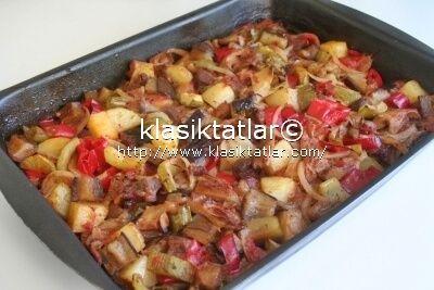 fırında etli karışık sebze 1 fırında etli karışık sebze