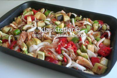 fırında etli sebze fırında etli karışık sebze