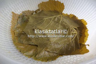 yaprak haşlama etli taze yaprak sarması