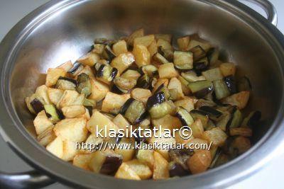 patates patlıcan kızartma patates patlıcan oturtma