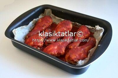 fırında acı soslu tavuk baget 1 fırında acı soslu tavuk baget