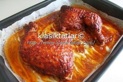 fırında tavuk budu fırında terbiyeli tavuk but