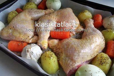 fırında sebzeli tavuk budu 1 fırında sebzeli tavuk budu