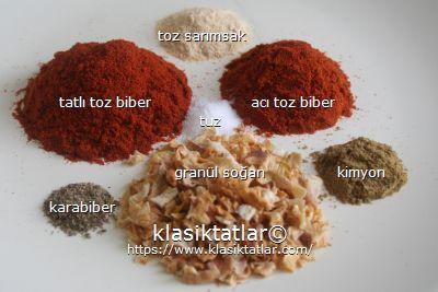 fajita baharat malzemesi fajita baharatı yapımı
