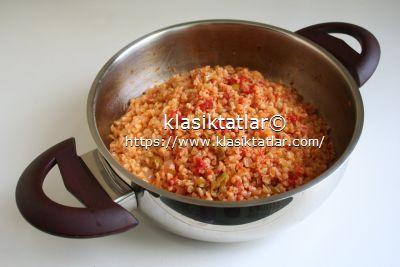 domatesli bulgur pilavı