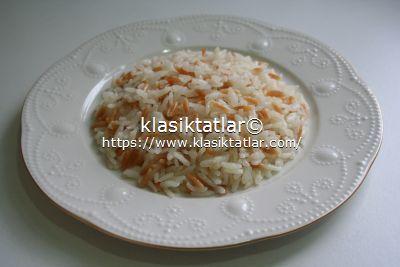 çektirmeli pirinç pilavı