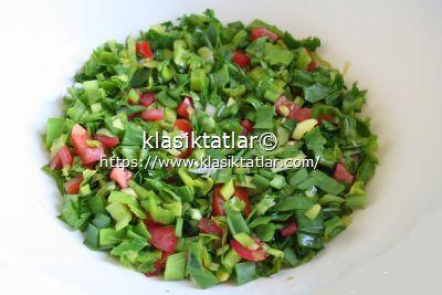 çiğden çiriş otu salatası