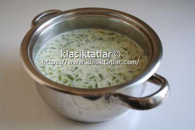 sütlü pirinçli çiriş otu çorbası